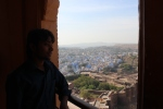 My host Surendra in the blue city