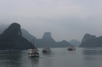 Foggy day in Halong Bay