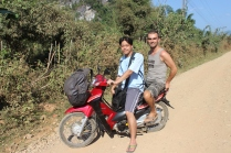 Exploring the surroundings of Vang Vieng with Purin