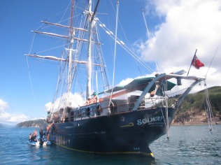 Our choice was this magnificent ship... Solway Lass