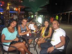 Salome, me, Jenny & Lionel @ White Beach, Boracay