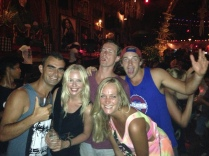 Me, Katja, Marijn, Lychelle & Andrew @ Reggae Bar (Kuta, Bali)