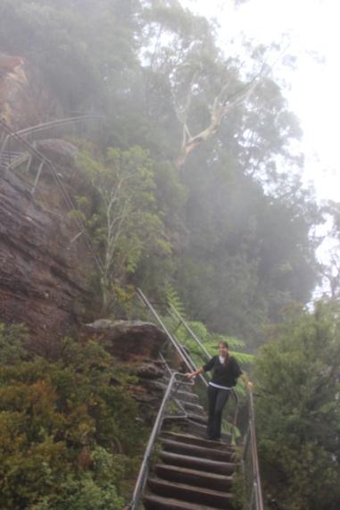 Climbing 'The Three Sisters'