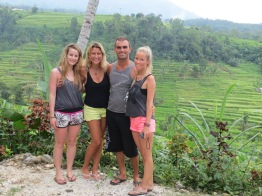 Connie, Lili, me & Louise @ Jatiluwih rice terraces