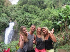 Connie, me, Louise & Lili @ Gitgit waterfalls