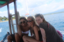 Magda, Louise & Connie on a Gili snorkeling trip
