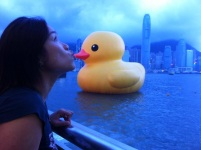 The Duck in Honk Kong harbor