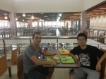 Havin luch with Zhuo in Tongji University