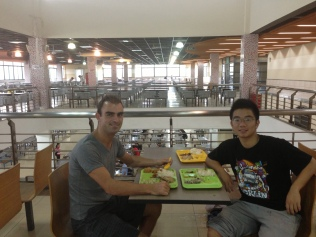 Havin luch with Zhuo in Tongji University