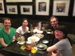 Kim, Xinjing, Yezi & myself @ Grandmother's restaurant