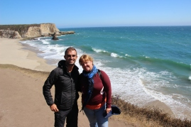 Kelly & me @ Davenport beach