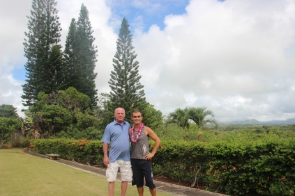 Welcomed by Rick in his fantastic house in Lihu'e