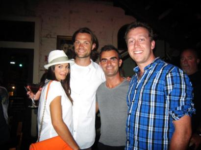 Chris & me with actors Genevieve Cortese & Jared Padalecli @ Lambert's, Austin