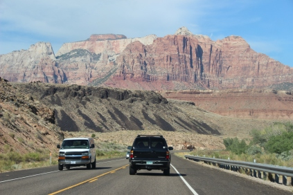 The road to Zion NP