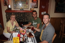 With Jenell & Chris @ Cowgirl restaurant