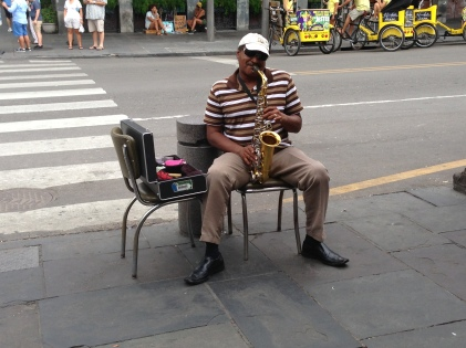 Street performer in French Quarter