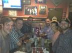 With Chris, Andy, Brad, Ashley & Austin in Austin's restaurant 'ML Rose'