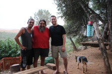Chris, Bear 'Double Rainbow' & me @ his place in Mariposa