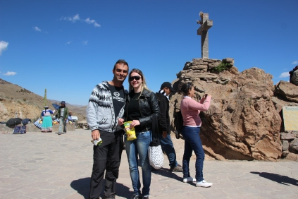 With Gaby @ Canon del Colca