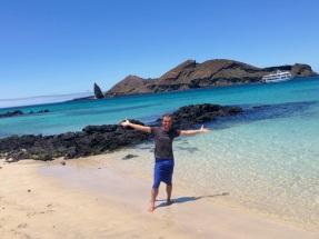Me @ Bahia Sullivan between the islands of Bartolomé & Santiago