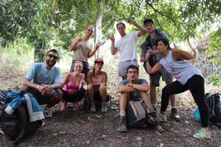 The 'Sexy Lama's' - Hernan, Soledad, me, Anita, James, David, James & Golnaz