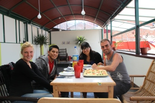 Isabel, Ronoel, Carla & myself @ Ukukus hostel