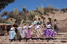 Local dansers in Humahuaca