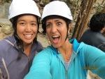 Anita & Golnaz ready for zip-lining !