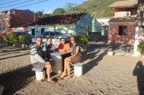 With Vitor, Sonia & Sioe in beautiful Ribeirao da Ilha