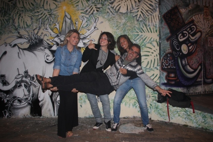 With Lily, Barbara & Sioe @ Beco do Batman, Vila Madalena - Sao Paolo